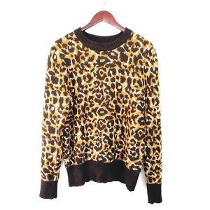 Who what wear leopard print sweater XXL